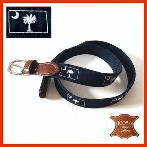 """Textile & Leather """"Palm"""" Belt"""